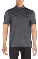 Michael Kors Ox Pique Cotton-Blend Polo Shirt