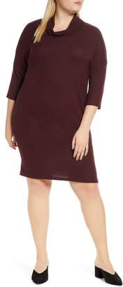 Bobeau Cozy Cowl Neck Sweater Dress