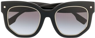 Burberry Square Oversized Frame Sunglasses