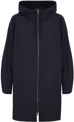Eileen Fisher Navy Hooded Shell Jacket