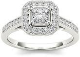 MODERN BRIDE 1/2 CT. T.W. Diamond 14K White Gold Engagement Ring