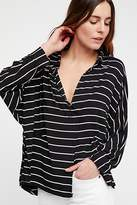 We The Free Can't Fool Me Striped Tee at Free People