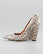 Rachel Roy Allie Snake Wedge Pump