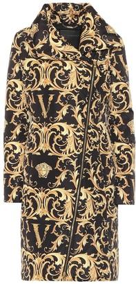 Versace Printed puffer coat