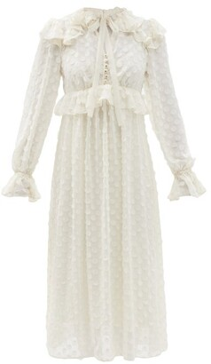Zimmermann Ruffled Polka-dot Chiffon Dress - Ivory