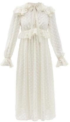 Zimmermann Ruffled Polka-dot Chiffon Dress - Ivory