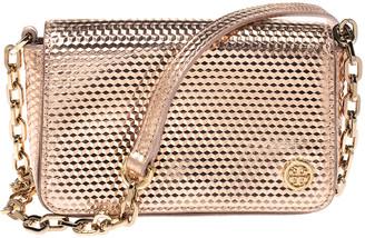 Tory Burch Metallic Rose Gold Leather Crossbody Bag