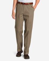 Eddie Bauer Men's Performance Dress Flat-Front Khaki Pants - Classic Fit
