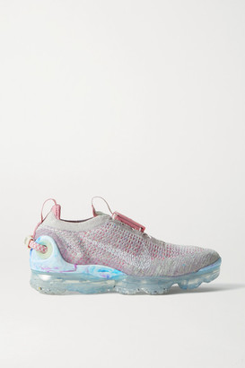 Nike Vapormax 2020 Rubber-trimmed Flyknit Sneakers - Stone
