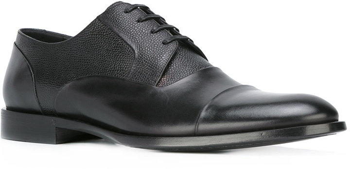 Dolce & Gabbana textured panel derby shoes
