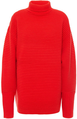 Victoria Victoria Beckham Ribbed Wool Turtleneck Sweater