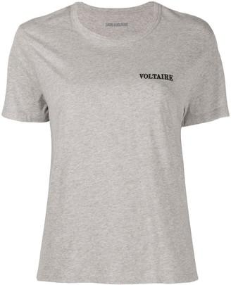 Zadig & Voltaire logo embroidered round neck T-shirt