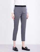 Claudie Pierlot Partition tapered crepe trousers