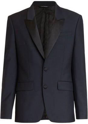 Givenchy Contrast Peak Lapel Virgin Wool & Mohair Tuxedo Jacket