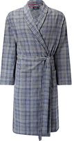 John Lewis Delhi Brushed Cotton Check Robe, Grey