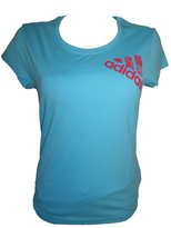 adidas Girls / Womans T-Shirt Light Cotton Top - XS Z49199
