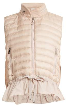Moncler Quilted Down Gilet - Womens - Light Pink