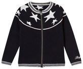 Bogner Navy Zipped Cardigan with White Stars