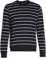 Club Monaco SLUB Long sleeved top white/navy