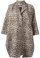 Stella McCartney oversize leopard print coat