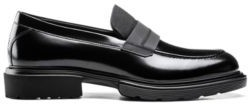 HUGO BOSS Smooth Leather Loafers With Chunky Sole - Black