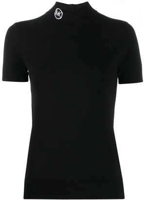 MICHAEL Michael Kors short sleeve turtle-neck top