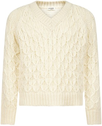 Saint Laurent V-Neck Knit Sweater
