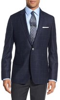 BOSS Men's 'Hutsons' Trim Fit Windowpane Wool Sport Coat