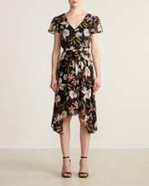 The Vanity Room Double V-Neck Floral Dress