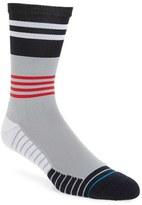Stance Men's Fusion Athletic - Framed Stripe Crew Socks
