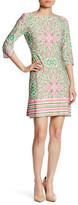 Taylor 3/4 Sleeve Jersey Print Dress
