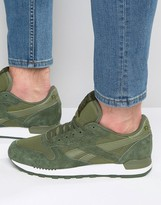 Reebok Classic Leather Clip Sneakers In Green AQ9792