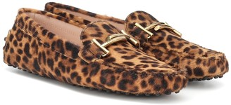 Tod's Gommino Double T calf-hair loafers