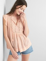Gap Eyelet flutter top