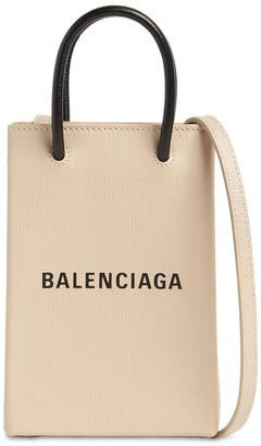 Balenciaga Shopping Leather Phone Holder Bag
