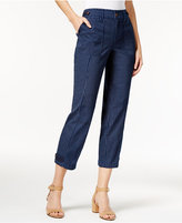 Style&Co. Style & Co. Cropped Striped Straight-Leg Pants, Only at Macy's
