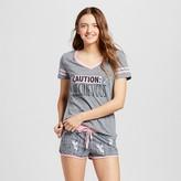 Disney Women's Fairy Tinkerbell Mischievous T-Shirt/Boxer Pajamas Set