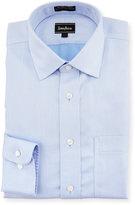 Neiman Marcus Classic-Fit Non-Iron Chevron Dress Shirt, Blue
