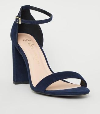 New Look Extra Wide Fit Suedette Block Heels
