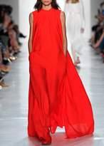 Noon By Noor Harris Crepe Overlay Jumpsuit In Red
