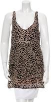 Jasmine Di Milo Sleeveless Leopard Pattern Top
