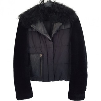 Longchamp Black Fur Leather Jacket for Women