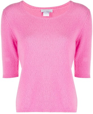Avant Toi Knitted Short-Sleeve Pullover