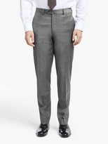 Hackett London Prince of Wales Check Slim Fit Suit Trousers, Grey