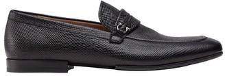 Salvatore Ferragamo Raion Lizard-Embossed Leather Loafers