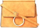 Kathy Ireland Brown Buckle Envelope Crossbody Bag