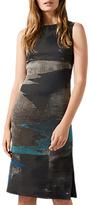 Jigsaw Ocean Tide Jacquard Dress, Rock