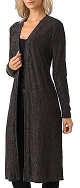 Belldini Metallic Stripe Duster Cardigan