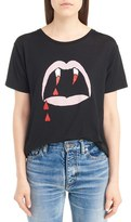 Saint Laurent Women's Blood Luster Graphic Cotton Tee