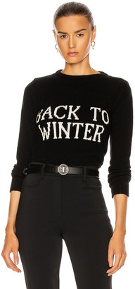 Alberta Ferretti Back To Winter Sweater in Black | FWRD